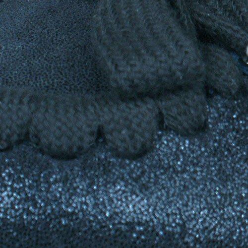 Puma Rudolf Dassler Feder Bombas / zapatos del ballet del cuero de las mujeres Black