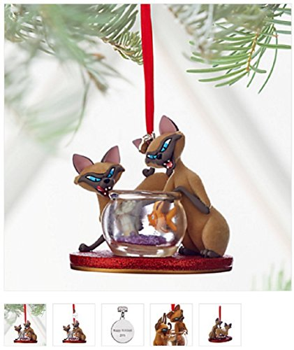 Disney Sketchbook Ornament - Lady and the Tramp - Si & Am - - Ornament Cat Siamese