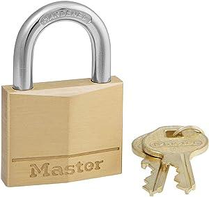 Master Lock 140D Padlock, 1 Pack, Brass