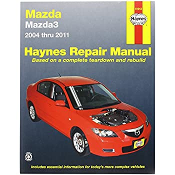 Amazon Com Chilton Chi46804 Mazda 3 04 11 Automotive Rh Amazon Com Mazda 3  Sedan Manual