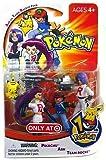 : Pokemon Mini Action Figure Set Ash vs Team Rocket Pack with Pikachu, Ash & Team Rocket