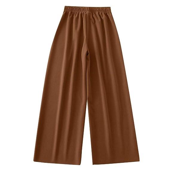 Luckycat Pantalones Anchos para Mujer Otoño Invierno 2019 Moda Casual Pantalones Marlene de Vestir Cintura Alta Fiesta Palazzo Pantalon Acampanados ...