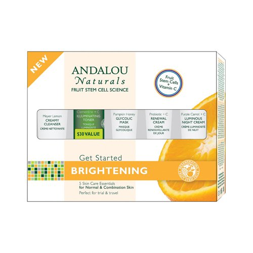 2 Packs of Andalou Naturals Get Started Brightening - 5 Piece Kit
