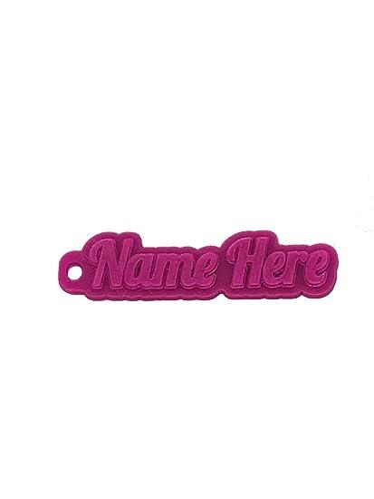Personalizado Llavero, llavero 3d nombre de goma llavero, goma, Transparent Pink