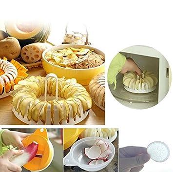DIY portátil cocina Gadgets herramienta de cocina saludable para DIY patatas chips en microondas utensilios de