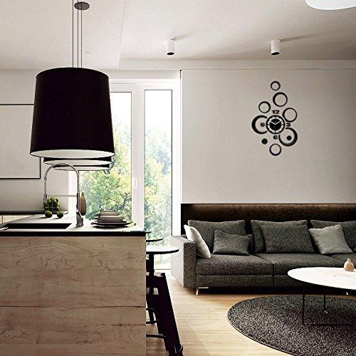 Nero Modern Clock Alladyn Orologio da Parete Acrilico 80 x 50 cm