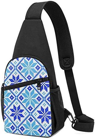 雪の花 斜め掛け ボディ肩掛け ショルダーバッグ ワンショルダーバッグ メンズ 多機能レジャーバックパック 軽量 大容量