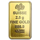 PAMP Suisse 2.5 Gram Gold bar w/Assay