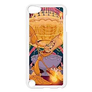Grouden R Create and Design Phone Case,Beauty and the Beast Cell Phone Case for iPod touch 5 White + Tempered Glass Screen Protector (Free) GHL-2969942