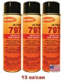 Polymat QTY3 797 Hi-Temp Professional Auto Spray Glue heat and water resistance
