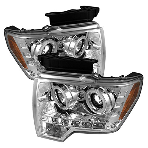 Spyder Auto Ford F150 Chrome CCFL LED Projector Headlight