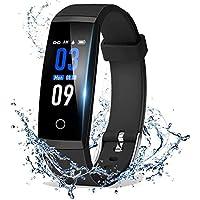 DoSmarter - Monitor de actividad física con pantalla de color, monitor de presión arterial de ritmo cardíaco, podómetro inteligente impermeable, contador de escalones, contador de calorías para niños y mujeres