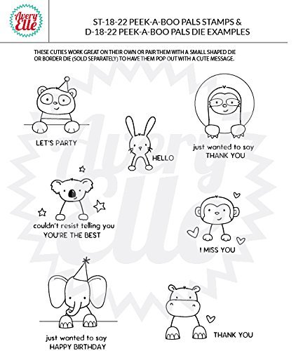 Avery Elle - Peek-A-Boo Pals - Clear Stamps and Dies Set