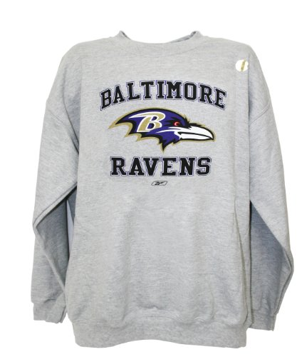 online store 34402 d610c Amazon.com : NFL Baltimore Ravens Crew Neck Sweatshirt, Gray ...