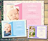 Personalised Childrens Birthday Invitations Printed Invites Boy Girl Joint Party Twins Unisex Photo Card First 1st ONE Pink Blue Purple Cream Lilac 5 10 20 30 40 50 60 70 80 90 100