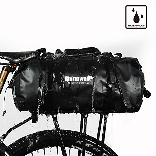 0fc66ebe86c3 9 · Rhinowalk Bike bag Waterproof Bike Pannier Biycle cargo rack 25L postman  saddle Bag Shoulder bag laptop