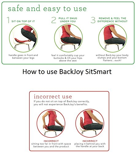BackJoy SitSmart Fabric Posture Cushion | Lumbar Support for Car and Back Support by BackJoy (Image #6)