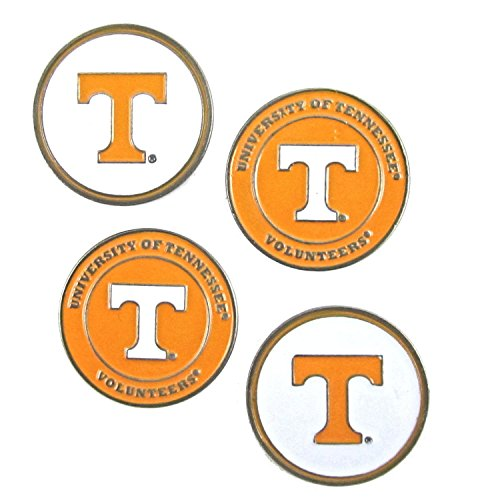 Tennessee Volunteers NCAA Double Sided UT Golf Ball Markers (Set of 4)
