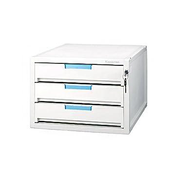 Kapamax Locking Drawer File Cabinet Office Desk Organizer (3 Drawers)