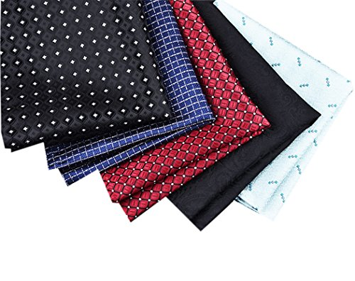 Bulk-Mens-Classic-Silky-Pocket-Square-HankieS-For-Suits