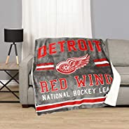 NHL 778267184473 Detroit Red Wings Superlux Sherpa Throw