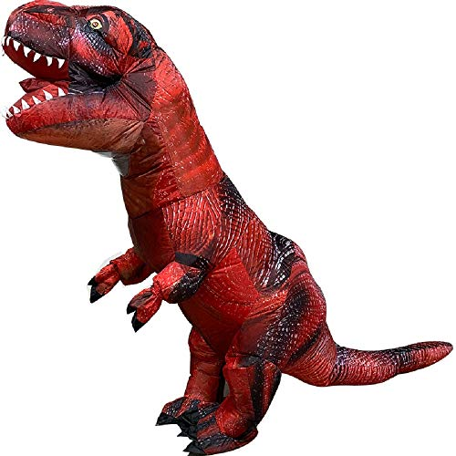 Inflatable Clothing t-rex Dinosaur inflate Tyrannosaurus Costumes Christmas,Halloween Cosplay Clothes for Adults (red) -