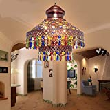 Southeast Asia Thai lighting Bohemian pendant lamps color crystal coffee three heads project pendant light ZA626 ZL55