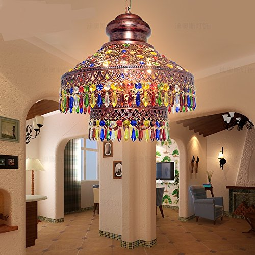 Southeast Asia Thai lighting Bohemian pendant lamps color crystal coffee three heads project pendant light ZA626 ZL55 by WINZSC