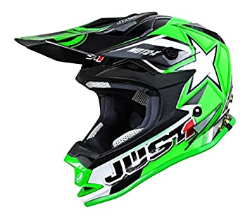 WACOX 192308 casco Cross just1 J32 moto x Junior, Verde, talla única