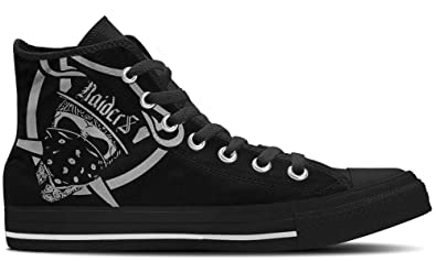 f249867571628 Amazon.com | CustomKiks Oakland Raiders Shoes - High Top Sneakers ...