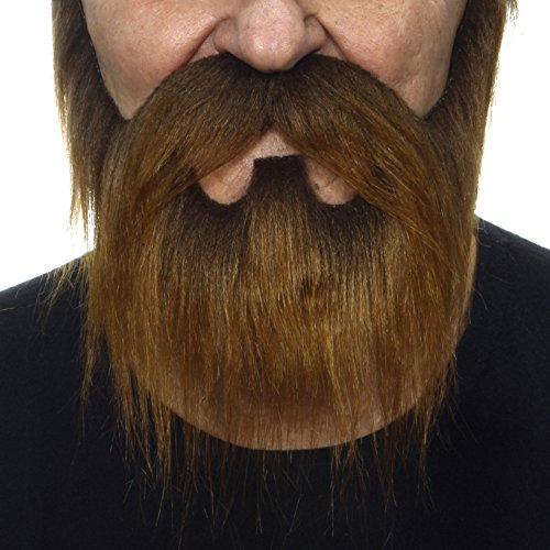 [Nomad brown fake beard and mustache, self adhesive] (False Beards And Moustaches)