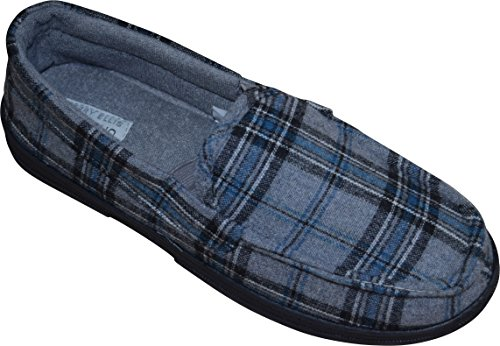 Perry Ellis Flannel Moccasins Slippers