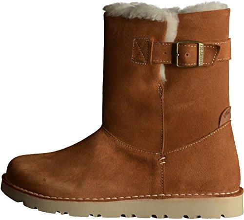 Birkenstock Westford Sheepskin Vl - botas de cuero mujer marrón - Brown (Nut)