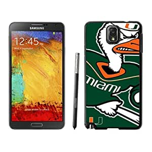 Designed DIY Sports Samsung Galaxy Note 3 Cases Ncaa ACC Atlantic Coast Conference Miami (Fl) Hurricanes 03 Cheap Phone Covers