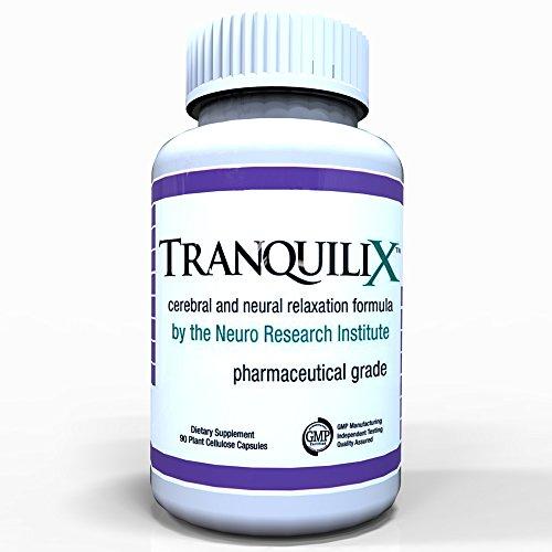 TranquiliX - 90 Caps # 1 Top qualité pour l'anxiété rapide et Stress Relief - qualité pharmaceutique Anti-Anxiété formule pour la relaxation et la réduction du stress Avec Mood Support & Delivery System breveté AES® pour une absorption maximale - Essayez