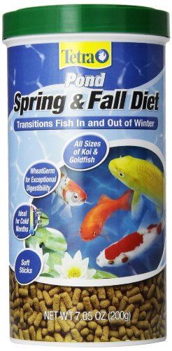 TetraPond Spring and Fall Diet, Pond Fish Food, for Goldfish and Koi (Best Diet For Goldfish)
