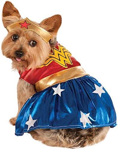 RubieS Disfraz Oficial de Wonder Woman para Perro, Talla Grande ...