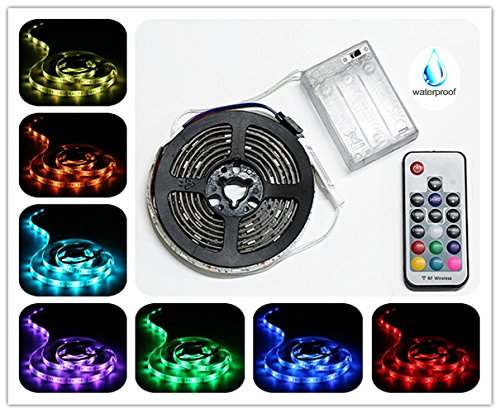Battery-Powered-LED-Strip-Lights-RF-Remote-Controlled-Multi-Color-Changing-DIY-Indoor-and-Outdoor-Decoration-656ft2M-Waterproof