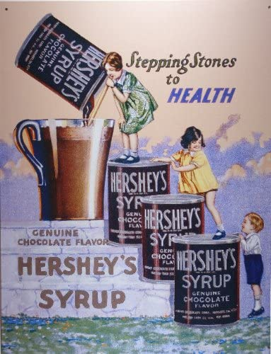 Vintage Look Reproduction Hershey/'s Milk Chocolate with Almonds Metal Sign