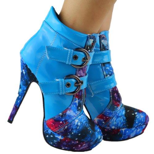 Boots Stiletto LF30301 Story Punk Show Night High Platform Ankle Sky Heel Buckle Blue 4gSWxPnq