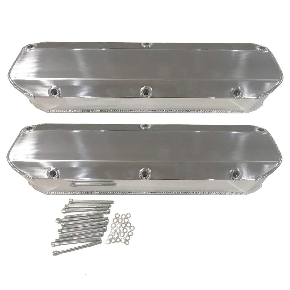 Valve Covers for SBF Ford Mustang 5.0L 260 289 302 351W Fabricated Aluminum Hexautoparts VE003_01