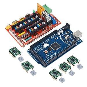 Drmus AMPS 1.4 REPRAP 3D Printer Controller + Mega2560 R3 + 5pcs A4988...