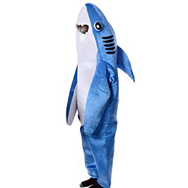 Adulto Mascot cosplay Halloween Disfraz de tiburón Unisex ...