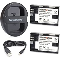 Newmowa LP-E6 Battery (2 pack) and Dual USB Charger for Canon LP-E6, LP-E6N and Canon EOS 5DS R, EOS 5DS, EOS 5D Mark III, EOS 5D Mark II, EOS 6D, EOS 7D, EOS 7D Mark II, EOS 60D, EOS 60Da, EOS 70D