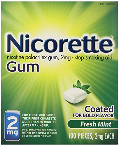 Nicorette Coated Gum 2mg, 100 pieces (Fresh Mint)