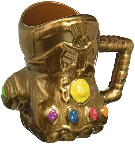 (Vandor 26181 Marvel Infinity Wars Gauntlet Shaped Ceramic Soup Coffee Mug Cup, 20 Ounce)
