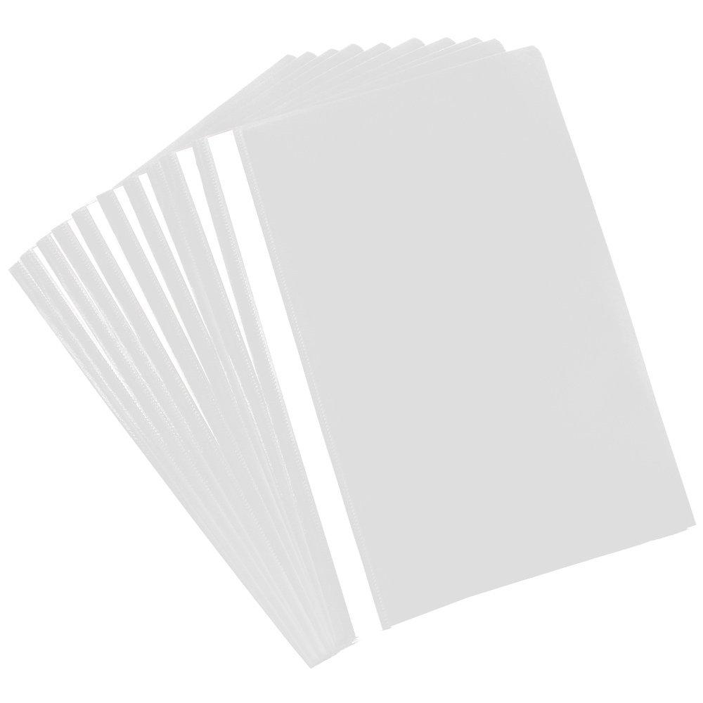 Hefter mit Beschriftungsstreifen 20 St/ück - wei/ß B/üro und zu Hause Kunststoffhefter f/ür Schule com-four/® 20x Schnellhefter DIN A4 PVC-frei