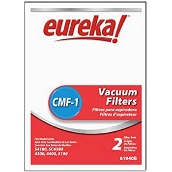 Genuine Eureka CMF-1 Filter 61940B - 2 motor filters, 2 micron cassette filters