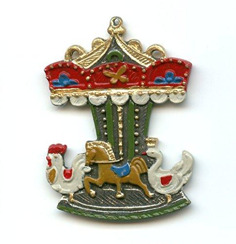Carousel German Pewter Christmas Tree Ornament