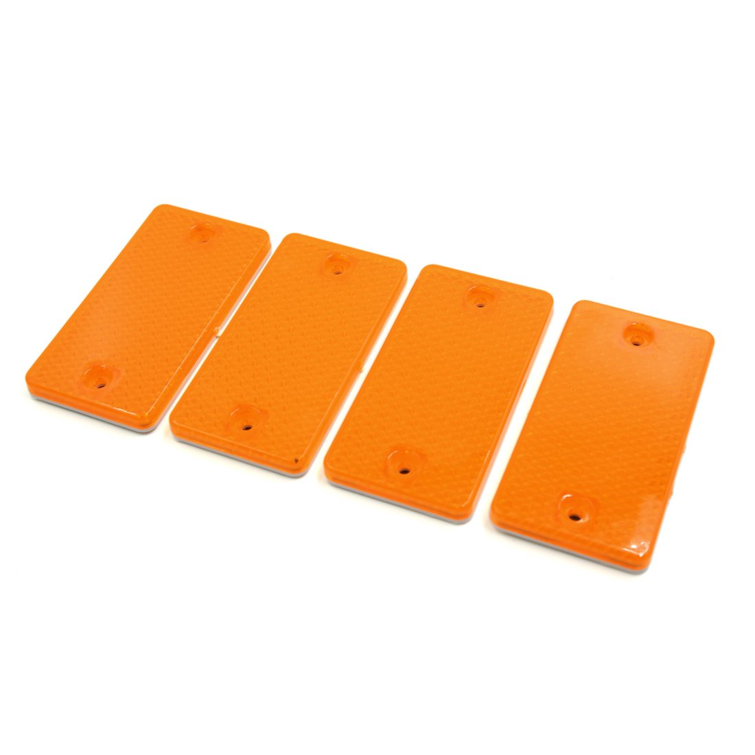 uxcell 4pcs Yellow Plastic Automobile Car Reflector Reflective Plate Sticker 9 x 4.5cm a18020100ux0218